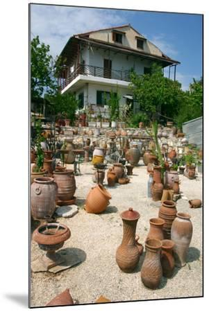 Pottery Karavomilos, Kefalonia, Greece-Peter Thompson-Mounted Photographic Print
