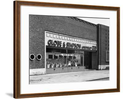 Globe and Simpson Shop Window, Nottingham, Nottinghamshire, 1961-Michael Walters-Framed Photographic Print