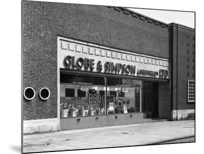 Globe and Simpson Shop Window, Nottingham, Nottinghamshire, 1961-Michael Walters-Mounted Photographic Print