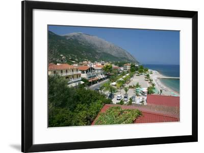 Seafront at Poros, Kefalonia, Greece-Peter Thompson-Framed Photographic Print