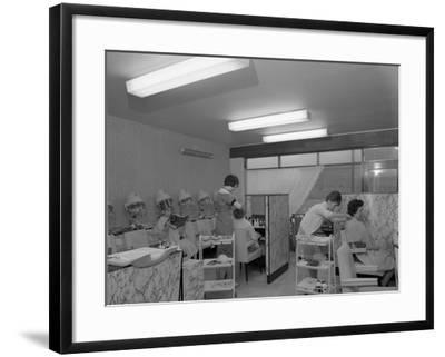Hairdressers at Work, Armthorpe, Near Doncaster, South Yorkshire, 1961-Michael Walters-Framed Photographic Print