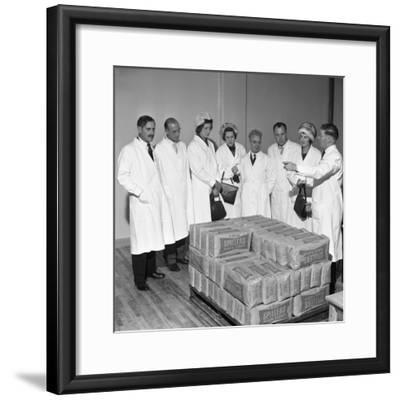 Visitors at the Spillers Foods Mill, Gainsborough, Lincolnshire, 1962-Michael Walters-Framed Photographic Print