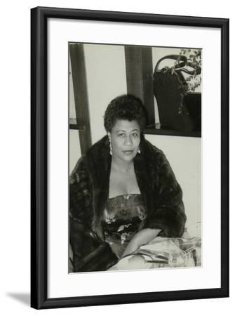 Ella Fitzgerald after a Concert at Colston Hall, Bristol, 24 February 1955-Denis Williams-Framed Photographic Print