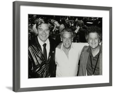 Jack Parnell, Buddy Rich and Steve Marcus at the Royal Festival Hall, London, 22 June 1985-Denis Williams-Framed Photographic Print