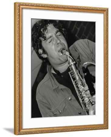 Alto Saxophonist Christian Brewer Playing at the Fairway, Welwyn Garden City, Hertfordshire, 2003-Denis Williams-Framed Photographic Print