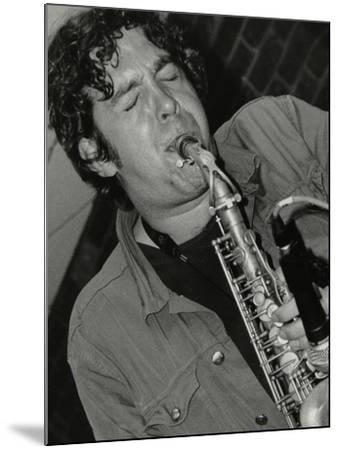 Alto Saxophonist Christian Brewer Playing at the Fairway, Welwyn Garden City, Hertfordshire, 2003-Denis Williams-Mounted Photographic Print