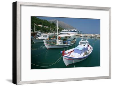Harbour of Poros, Kefalonia, Greece-Peter Thompson-Framed Photographic Print