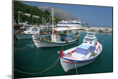 Harbour of Poros, Kefalonia, Greece-Peter Thompson-Mounted Photographic Print