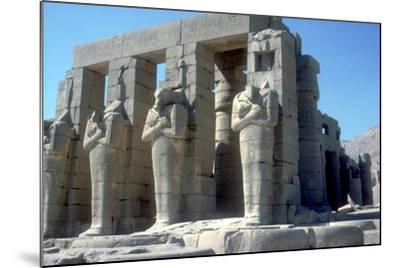 Colossal Statues of Rameses Ii, the Ramesseum, Temple of Rameses Ii, Luxor, Egypt, C1300 Bc-CM Dixon-Mounted Photographic Print