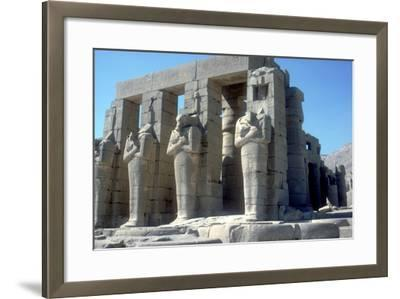 Colossal Statues of Rameses Ii, the Ramesseum, Temple of Rameses Ii, Luxor, Egypt, C1300 Bc-CM Dixon-Framed Photographic Print