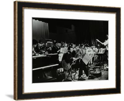 Michael Garrick Conducting an Orchestra at Berkhamsted Civic Centre, 1985-Denis Williams-Framed Photographic Print