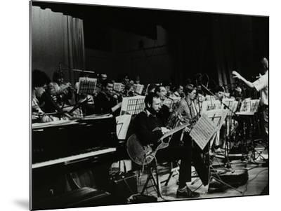 Michael Garrick Conducting an Orchestra at Berkhamsted Civic Centre, 1985-Denis Williams-Mounted Photographic Print