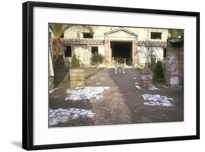 Courtyard at the Roman Villa, the House of the Stags, Herculaneum, Italy-CM Dixon-Framed Photographic Print