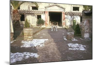 Courtyard at the Roman Villa, the House of the Stags, Herculaneum, Italy-CM Dixon-Mounted Photographic Print