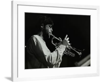 Guy Barker Playing the Trumpet at the Stables, Wavendon, Buckinghamshire-Denis Williams-Framed Photographic Print