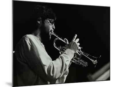Guy Barker Playing the Trumpet at the Stables, Wavendon, Buckinghamshire-Denis Williams-Mounted Photographic Print