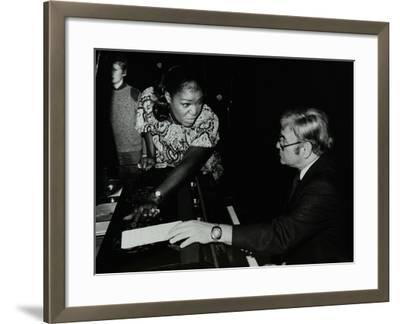 Singer Carrie Smith with Her Pianist Lou Stein, Forum Theatre, Hatfield, Hertfordshire, 1978-Denis Williams-Framed Photographic Print
