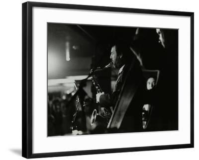 Saxophonist Bob Sydor Playing at the Torrington Jazz Club, Finchley, London, 1988-Denis Williams-Framed Photographic Print