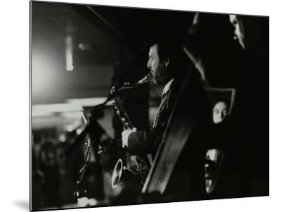 Saxophonist Bob Sydor Playing at the Torrington Jazz Club, Finchley, London, 1988-Denis Williams-Mounted Photographic Print