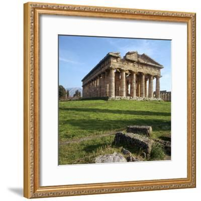 The So-Called Temple of Neptune at Paestum, 5th Century Bc-CM Dixon-Framed Photographic Print
