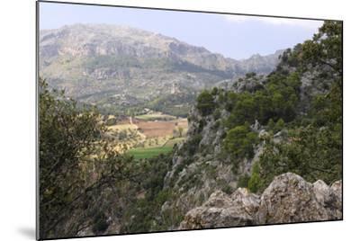 Mountain Scenery Near Lluc, Mallorca-Peter Thompson-Mounted Photographic Print