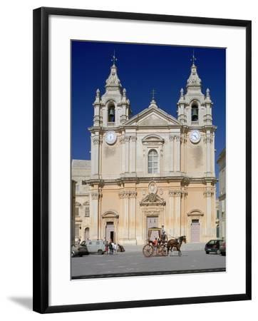 St Pauls Cathedral, Mdina, Malta-Peter Thompson-Framed Photographic Print