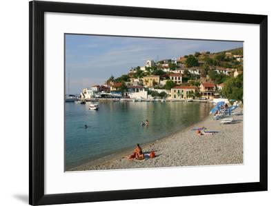 Beach, Assos, Kefalonia, Greece-Peter Thompson-Framed Photographic Print