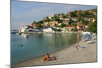 Beach, Assos, Kefalonia, Greece-Peter Thompson-Mounted Photographic Print
