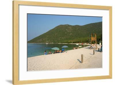 Antisamos (Captain Corellis Beach), Kefalonia, Greece-Peter Thompson-Framed Photographic Print