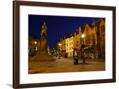 Market Place at Night, Durham-Peter Thompson-Framed Photographic Print