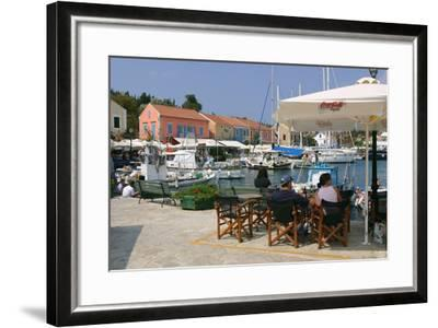 Fiskardo Harbour, Kefalonia, Greece-Peter Thompson-Framed Photographic Print