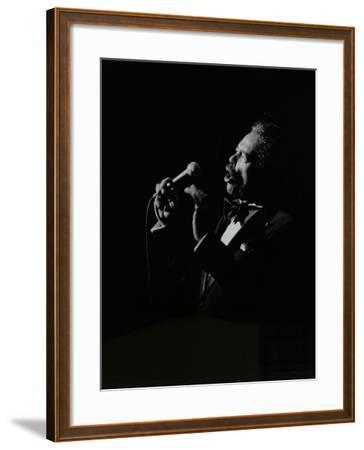 Billy Eckstine in Full Song at the Forum Theatre, Hatfield, Hertfordshire, 12 June 1980-Denis Williams-Framed Photographic Print