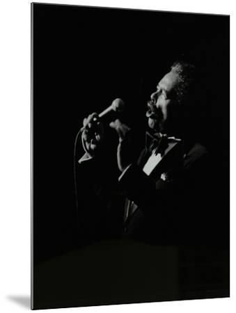Billy Eckstine in Full Song at the Forum Theatre, Hatfield, Hertfordshire, 12 June 1980-Denis Williams-Mounted Photographic Print