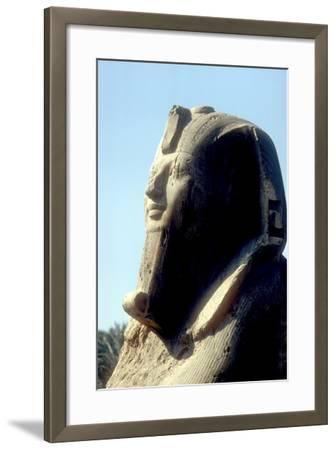 Head of Alabaster Sphinx, Memphis, Egypt, 18th or 19th Dynasty, C14th - 13th Century Bc-CM Dixon-Framed Photographic Print
