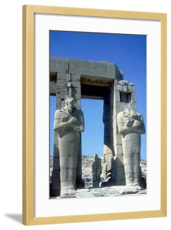 Two Statues at the Ramesseum, Temple of Rameses Ii, Luxor, Egypt, C1250 Bc-CM Dixon-Framed Photographic Print