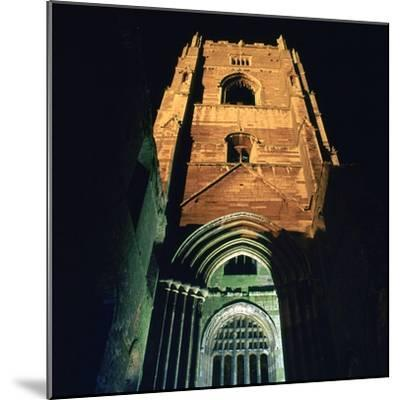 Fountains Abbey, Illuminated, 12th Century-CM Dixon-Mounted Photographic Print