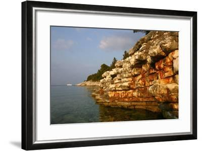 Rock Formations, Kefalonia, Greece-Peter Thompson-Framed Photographic Print