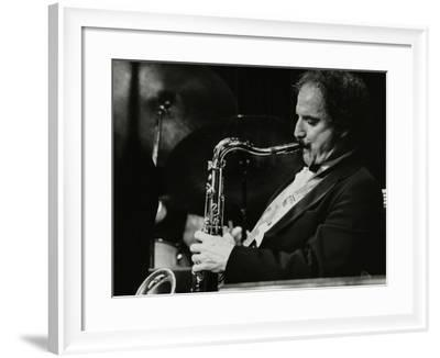 Saxophonist Frank Tiberi Performing at the Forum Theatre, Hatfield, Hertfordshire, 1983-Denis Williams-Framed Photographic Print