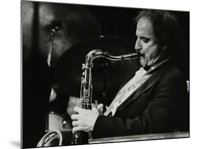 Saxophonist Frank Tiberi Performing at the Forum Theatre, Hatfield, Hertfordshire, 1983-Denis Williams-Mounted Photographic Print