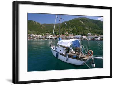 Yacht, Sami, Kefalonia, Greece-Peter Thompson-Framed Photographic Print