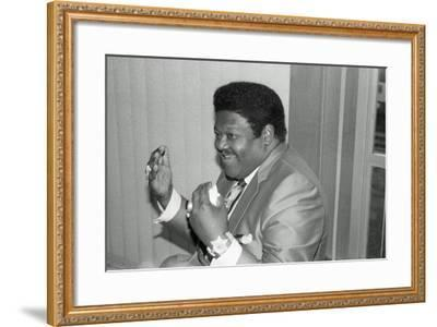 Fats Domino, Royal Festival Hall, London, 1985-Brian O'Connor-Framed Photographic Print