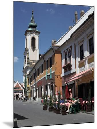 Café and Church, Szentendre, Hungary-Peter Thompson-Mounted Photographic Print