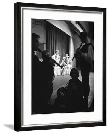 Production of Shakespeares Twelfth Night, Worksop College, Derbyshire, 1960-Michael Walters-Framed Photographic Print