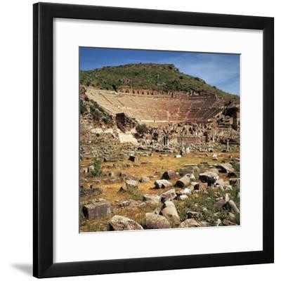 Greek Theatre at Ephesus, 1st Century Bc-CM Dixon-Framed Photographic Print