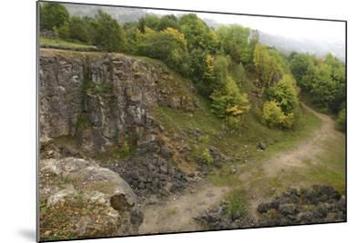 Stone Quarry, the National Stone Centre, Derbyshire, 2005-Peter Thompson-Mounted Photographic Print