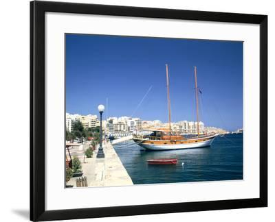 Waterfront of Sliema, Malta-Peter Thompson-Framed Photographic Print