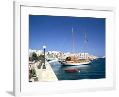 Waterfront of Sliema, Malta-Peter Thompson-Framed Photographic Print