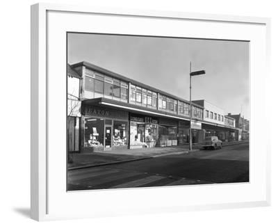 High Street Shopping, Goldthorpe, South Yorkshire, 1961-Michael Walters-Framed Photographic Print