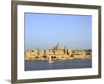Valletta, Viewed from Sliema, Malta-Peter Thompson-Framed Photographic Print