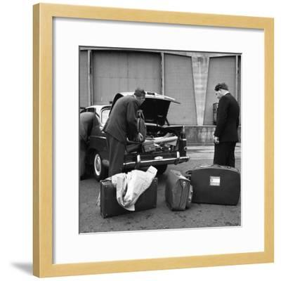 A 1961 Austin Westminster Being Loaded with Luggage on Amsterdam Docks, Netherlands 1963-Michael Walters-Framed Photographic Print